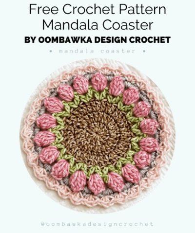 Free Crochet Pattern Mandala Coaster