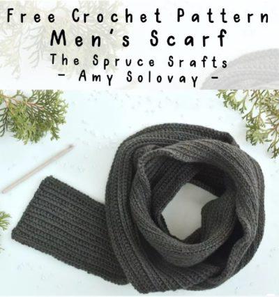 Free Crochet Pattern Men's Scarf