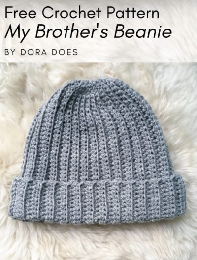 Free Crochet Pattern My Brother's Beanie