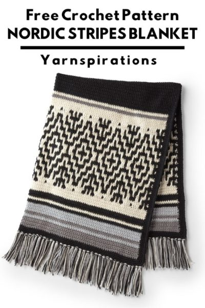 Free Crochet Pattern Nordic Stripes Blanket