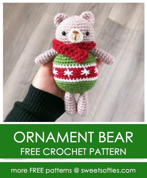Free Crochet Pattern Ornament Bear