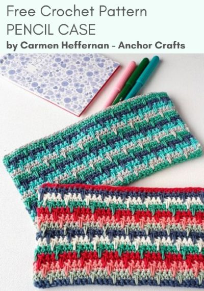Free Crochet Pattern Pencil Case