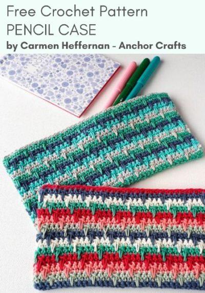 Free Crochet Pattern Pencil Case