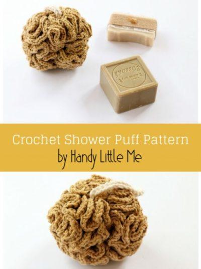 Free Crochet Pattern Shower Puff