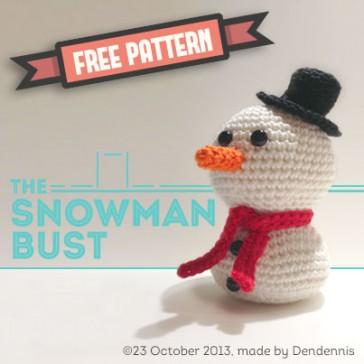 Free Crochet Pattern Snowman Bust
