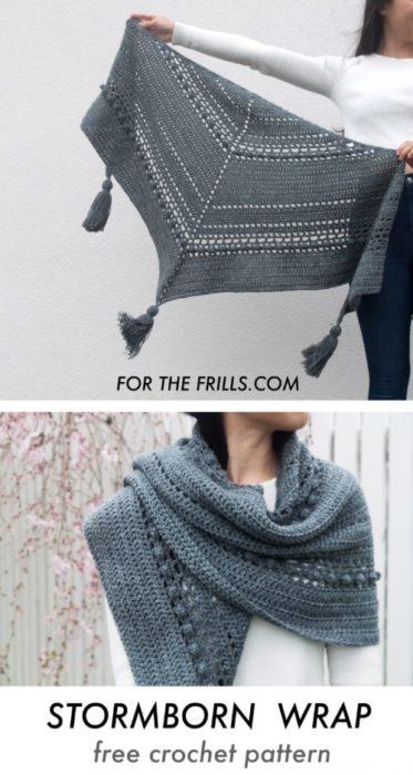 Free Crochet Pattern Stormborn Wrap