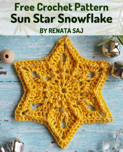 Free Crochet Pattern Sun Star Snowflake