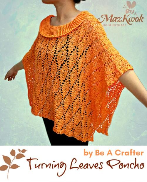 Free Crochet Pattern Turning Leaves Poncho