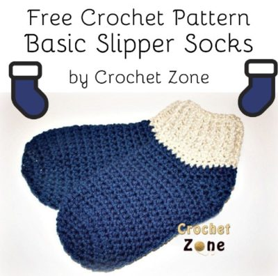 Free Crochet Pattern Basic Slipper Socks