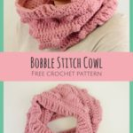 Free Crochet Pattern Bobble Stitch Cowl