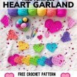 Free Crochet Pattern C2C Heart Garland