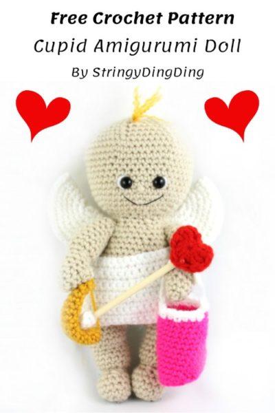 Free Crochet Pattern Cupid Amigurumi Doll