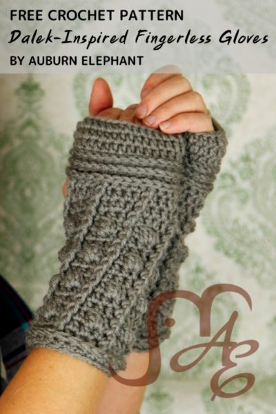 Free Crochet Pattern Dalek-Inspired Fingerless Gloves