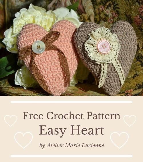 Free Crochet Pattern Easy Heart