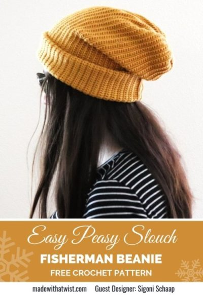 Free Crochet Pattern Fisherman Beanie