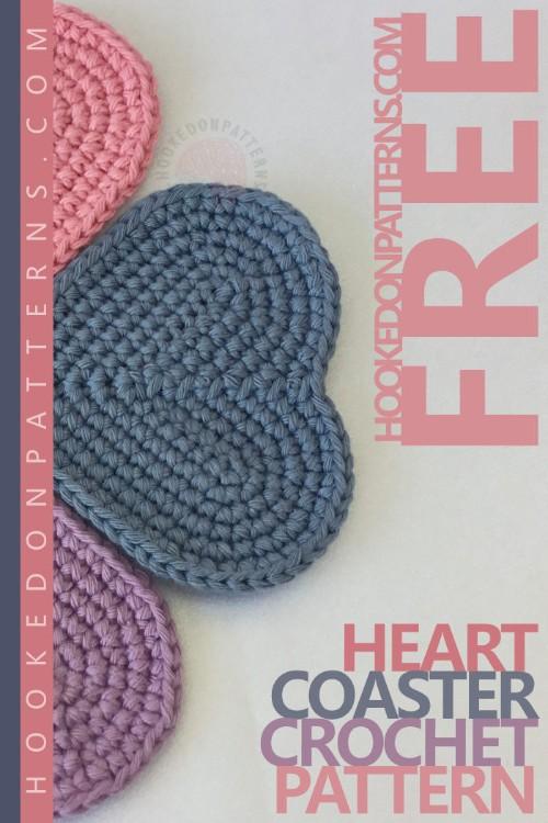 Free Crochet Pattern Heart Coaster