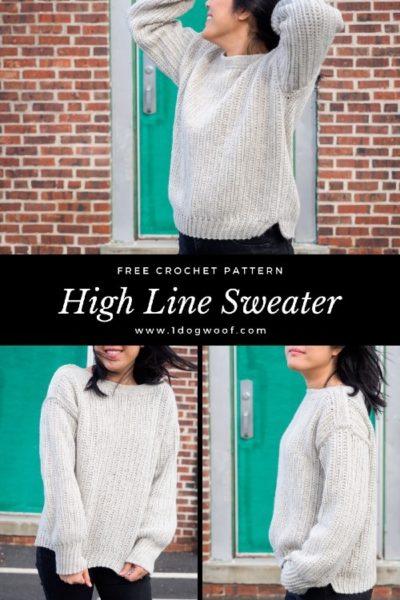 Free Crochet Pattern High Line Sweater