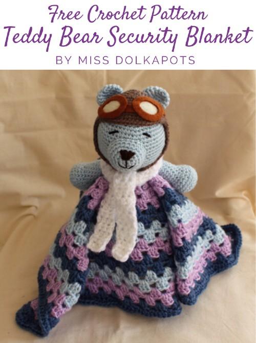 Free Crochet Pattern Teddy Bear Security Blanket