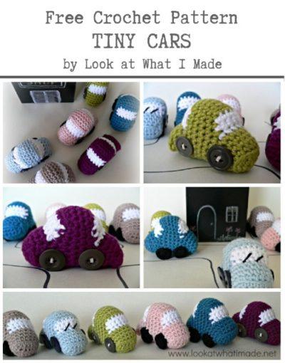 Free Crochet Pattern Tiny Cars