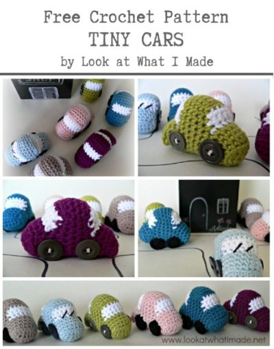 Free Crochet Pattern Tiny Cars