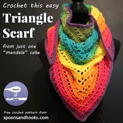Free Crochet Pattern Triangle Scarf