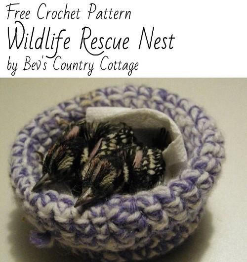 Free Crochet Pattern Wildlife Rescue Nest