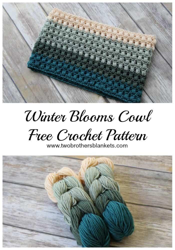 Free Crochet Pattern Winter Blooms Cowl