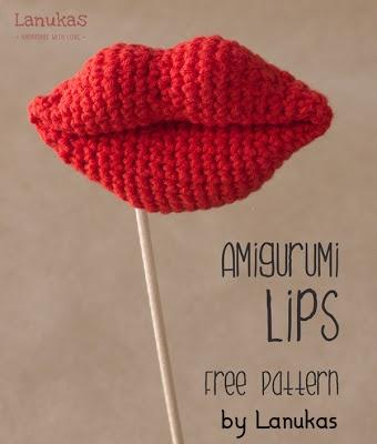 Free Crochet Pattern Amigurumi Lips