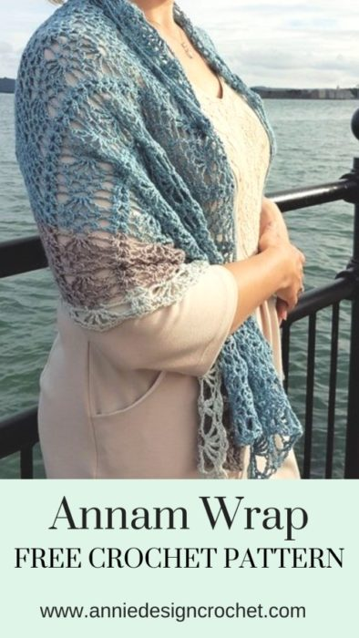Free Crochet Pattern Annam Wrap