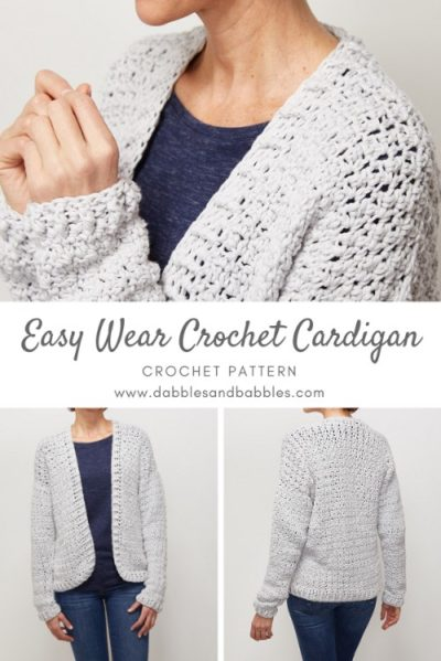 Free Crochet Pattern Easy Wear Cardigan