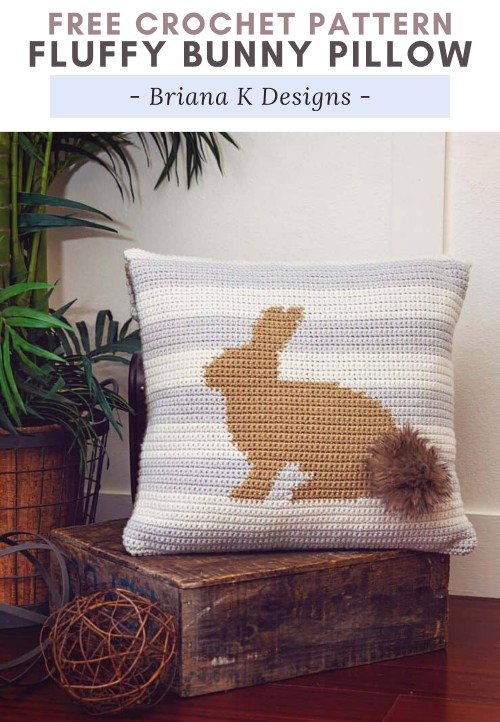 Free Crochet Pattern Fluffy Bunny Pillow
