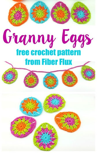 Free Crochet Pattern Granny Eggs