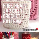 Free Crochet Pattern Heart Jar Cozy