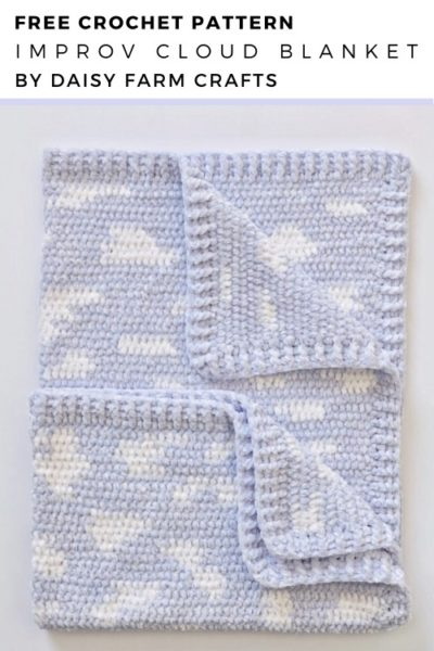 Free Crochet Pattern Improv Cloud Blanket