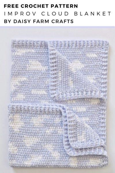 Free Crochet Pattern Improv Cloud Blanket