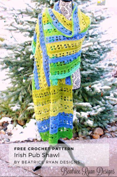 Free Crochet Pattern Irish Pub Shawl