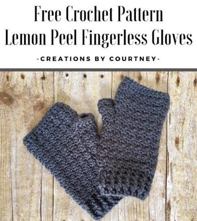 Free Crochet Pattern Lemon Peel Fingerless Gloves