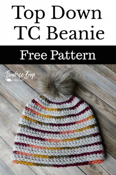 Free Crochet Pattern Top Down TC Beanie