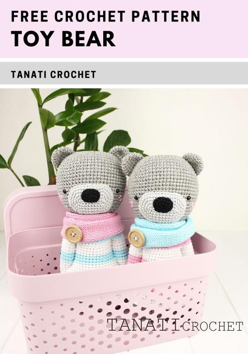 Free Crochet Pattern Toy Bear