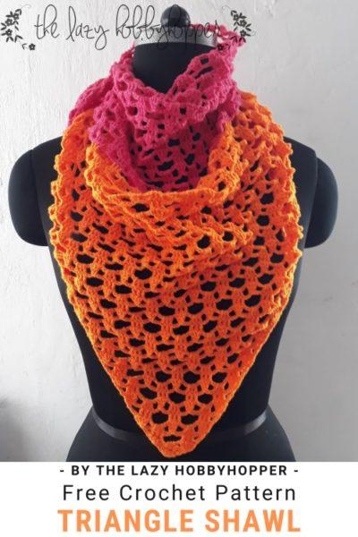 Free Crochet Pattern Triangle Shawl