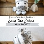 Free Crochet Pattern Zara the Zebra