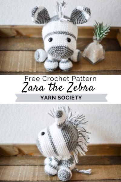 Zaza the Zebra Free Amigurumi Crochet Pattern ⋆ Crochet Kingdom | 600x400