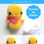 Free Crochet Pattern Baby Chick in Egg