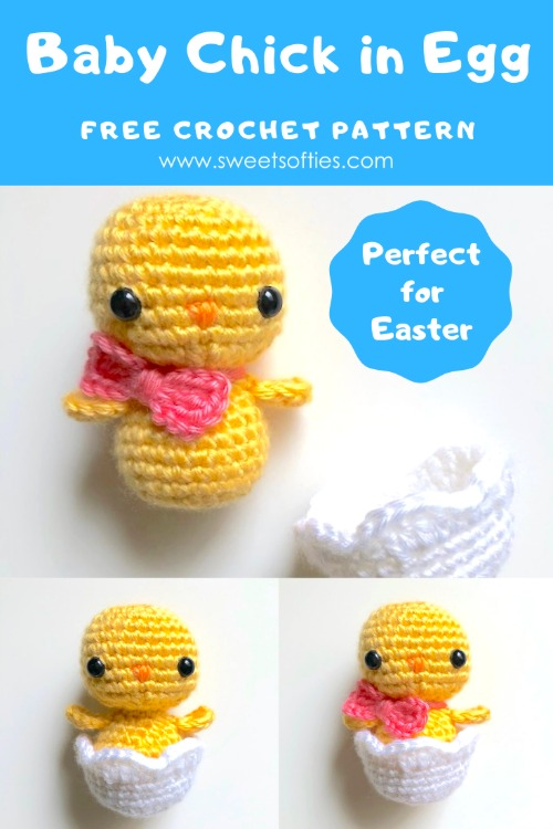 Free Crochet Pattern Baby Chick in Egg