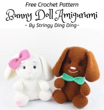 Free Crochet Pattern Bunny Doll Amigurumi