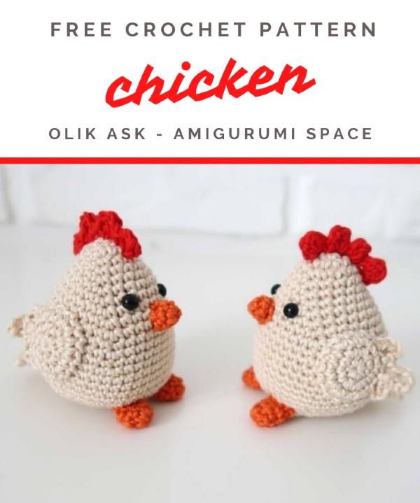 Free Crochet Pattern Chicken