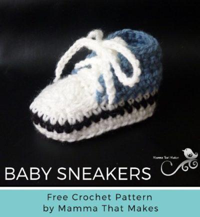 Free Crochet Pattern Cool Baby Sneakers