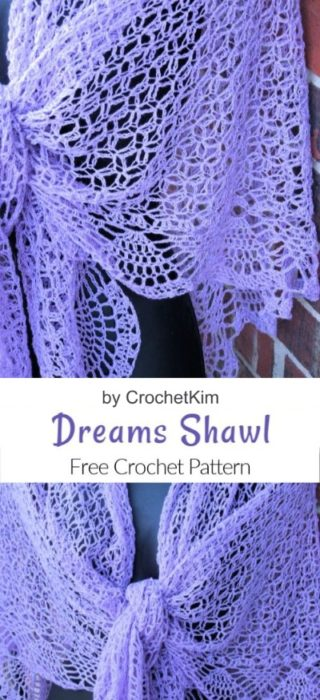 Free Crochet Pattern Dreams Shawl