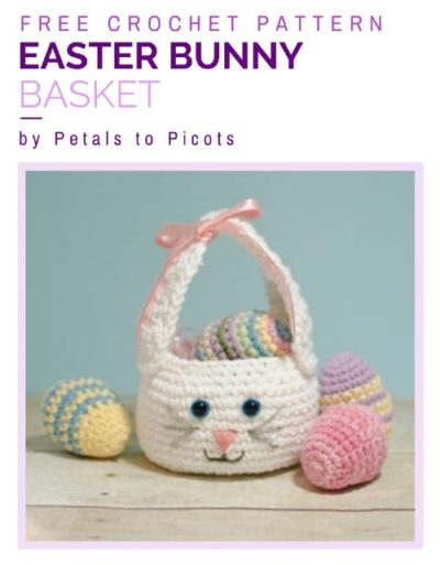 Free Crochet Pattern Easter Bunny Basket