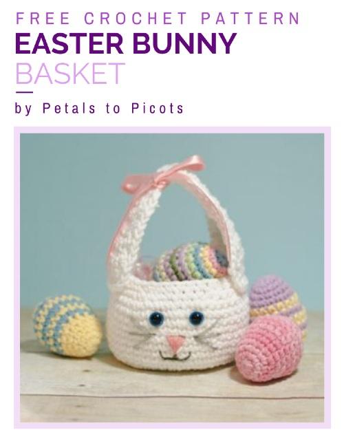 Free Crochet Pattern Easter Bunny Basket